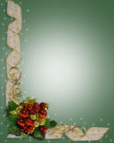 Christmas Border Ribbons sparkle Royalty Free Stock Photo