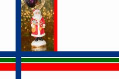 Christmas Border with Saint Nicholas Royalty Free Stock Images
