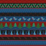 Christmas border seamless pattern Stock Photo