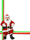 Christmas Border with sitting  Santa Claus Stock Photography
