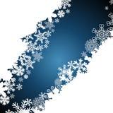 Christmas border, snowflake design background stock illustration