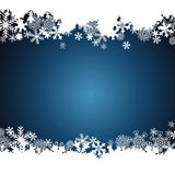 Christmas border, snowflake design background.  royalty free illustration