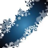 Christmas border, snowflake design background. Vector stock illustration