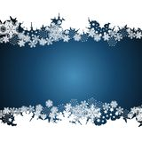 Christmas border, snowflake design background. Vector royalty free illustration