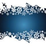 Christmas border, snowflake design background vector illustration