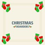 Christmas border of socks. For web design and application interface, also useful for infographics. Vector illustration royalty free illustration