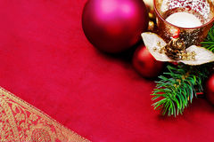 Christmas border, still life. Stock Photo