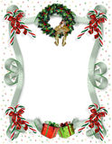 Christmas border traditional Stock Photo