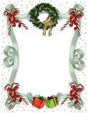 Christmas border traditional stock photo