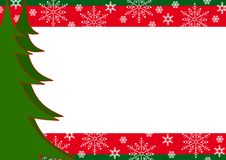 Christmas border with trees and snowflakes. Stock Photography