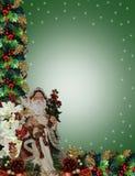 Christmas Border Victorian Santa Royalty Free Stock Photo