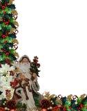 Christmas Border Victorian Santa Royalty Free Stock Photos