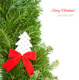 Christmas border on white Royalty Free Stock Photos
