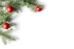 Christmas border. On white background, isolated stock photos