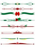 Christmas borders. In red and green Royalty Free Stock Images