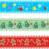 Christmas borders Stock Images