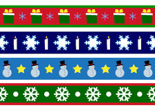 Christmas borders. A clip  art illustration featuring your choice of three different Christmas themed banners or borders for decorative use Royalty Free Stock Photo