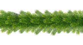 Christmas borders from fir tree branches. Vector illustration for your design Stock Images