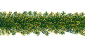 Christmas borders from fir tree branches. Vector illustration for your design Stock Photos