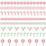 Christmas borders. Made of different type of candys Royalty Free Stock Photography