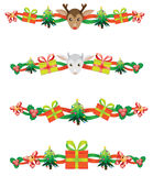 Christmas borders Royalty Free Stock Photos