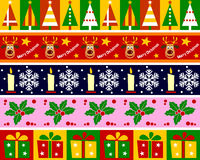 Christmas Borders Set [1] Stock Images
