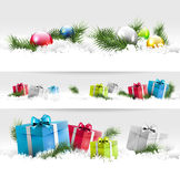 Christmas borders Royalty Free Stock Image