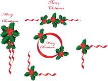Christmas bordersgreetings Royalty Free Stock Photos