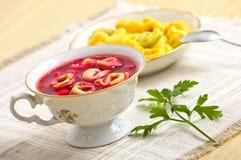 Christmas borscht Royalty Free Stock Image