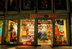 Christmas in Boston Store, Faneuil Hall, Boston, MA. The Christmas in Boston Store is in full swing as it prepares for the Holiday Season Stock Image