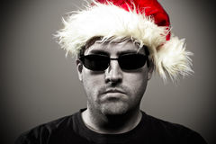 Christmas bouncer. Bouncer at Christmas, what a jolly fellow Stock Images