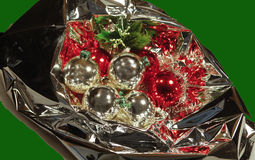Christmas bouquet with baubles Royalty Free Stock Photography