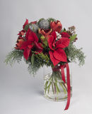 Christmas bouquet with decorations Royalty Free Stock Photo