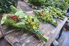 Christmas Bouquets Stock Photography