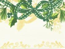 Christmas bow. Stock Photos