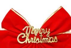 Christmas Bow. A large Christmas bow to celebrate the holiday season Stock Photo