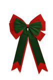 Christmas Bow. Isolated on white Royalty Free Stock Photography