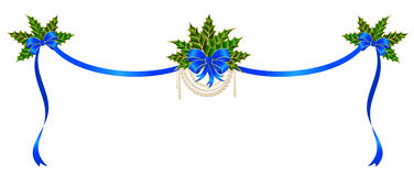 Christmas bow. On a white background Royalty Free Stock Images