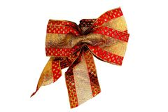 Christmas Bow Royalty Free Stock Image