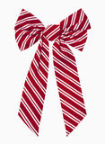 Christmas Bow. Red and white striped christmas box, includes clipping path Royalty Free Stock Images
