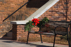 Christmas Bow. On a building Royalty Free Stock Photography