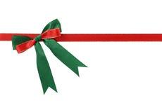 Christmas bow. Isolated on white background Stock Photo