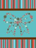 Christmas bow on the background Royalty Free Stock Photography