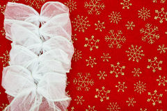 Christmas Bow Border Royalty Free Stock Photos