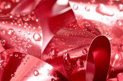 Christmas bow close up in red Stock Images
