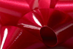 Christmas bow close up in red Royalty Free Stock Images