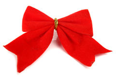 Christmas bow decoration for a ney-year tree Stock Images