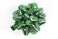 Christmas bow in green stock image