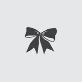 Christmas bow icon icon in a flat design in black color. Vector illustration eps10 Royalty Free Stock Image