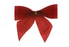 Christmas bow isolated Royalty Free Stock Image